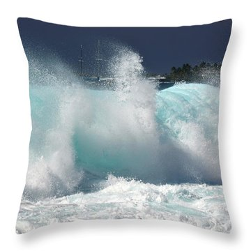 Heavy Surf Throw Pillow