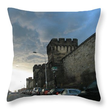 Heavy Weather Over Eastern State Throw Pillow