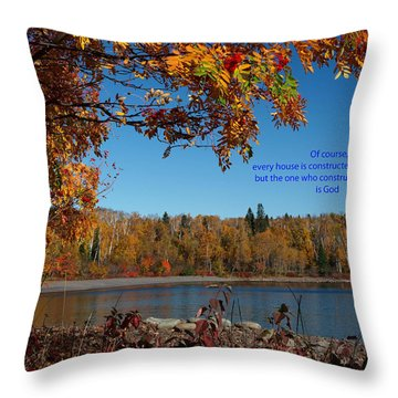 Hebrews 3 4 Throw Pillow by James Peterson