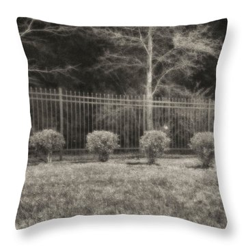 Hedges And Trees Throw Pillow by J Riley Johnson