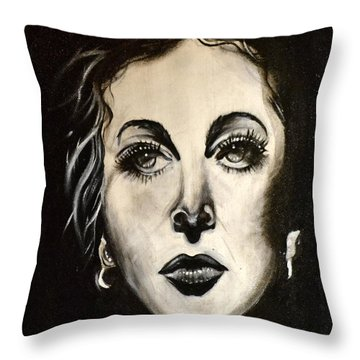 Throw Pillow featuring the painting Hedi by Sandro Ramani