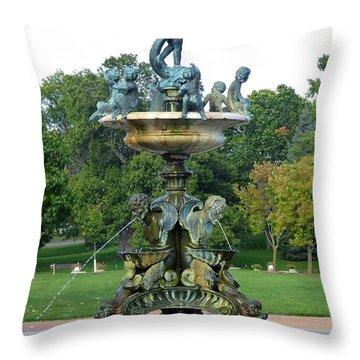 Heffelfinger Fountain Throw Pillow