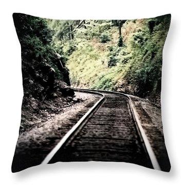 Hegia Burrow Railroad Tracks  Throw Pillow