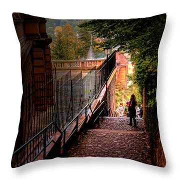 Throw Pillow featuring the photograph Heidelberg Stairway by Jim Hill