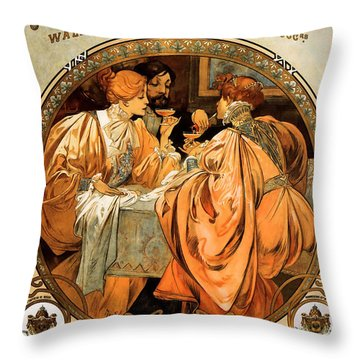 Heidsieck Champagne Poster Advert Throw Pillow by Philip Ralley