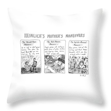 Heimlich's Mother's Maneuvers Throw Pillow