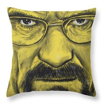 Heisenberg - Breaking Bad Throw Pillow by Eric Dee