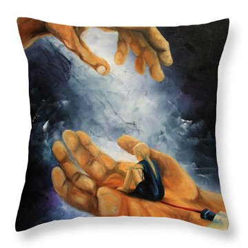 Held Throw Pillow