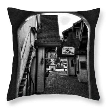 Helen Georgia Side Street In Black And White Throw Pillow