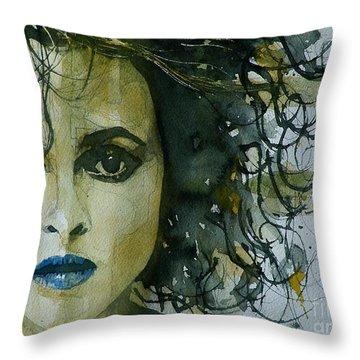 Helena Bonham Carter Throw Pillow by Paul Lovering