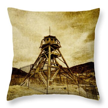 Helena-montana-fire Tower Throw Pillow