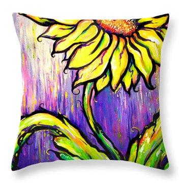 Sunflower I Throw Pillow
