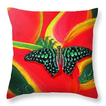 Throw Pillow featuring the painting Solomans Kiss by Debbie Chamberlin