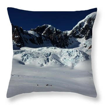 Throw Pillow featuring the photograph Helicopter New Zealand  by Amanda Stadther