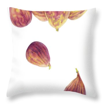 Helium Figs Throw Pillow by Paula Pertile