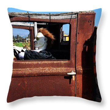 Throw Pillow featuring the photograph Hell Bent To Market by Michael Gordon