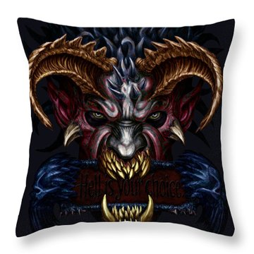 Hell Is Your Choice  Throw Pillow