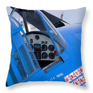 Hellcat Throw Pillow by Adam Romanowicz