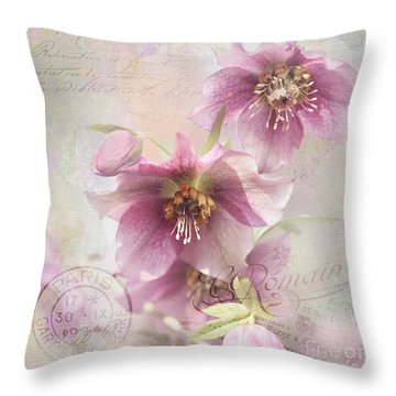 Throw Pillow featuring the photograph Hellebore by Sylvia Cook
