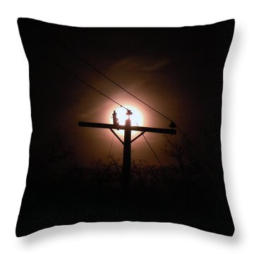 Hello Anybody Out There Throw Pillow
