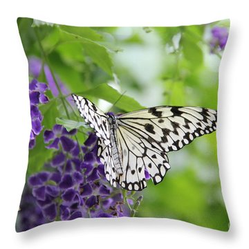 Hello Beauty Throw Pillow