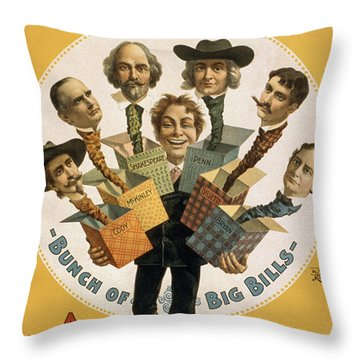 Hello Bill Throw Pillow by Aged Pixel