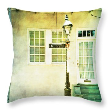 Throw Pillow featuring the photograph Hello Dauphine by Heather Green