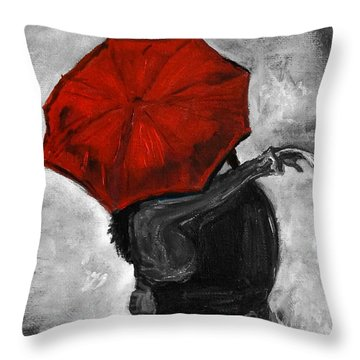 Hello Hello Throw Pillow by Leslie Allen