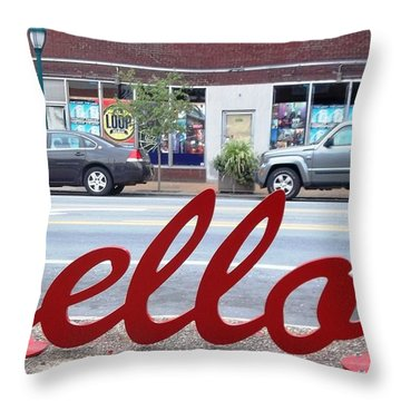 Throw Pillow featuring the photograph Hello by Kelly Awad
