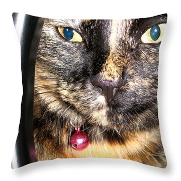 Hello Pearl Collection.  I Still Watching You Throw Pillow by Oksana Semenchenko