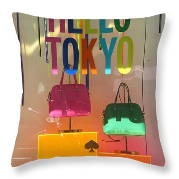 Hello Tokyo Throw Pillow by Alfred Ng
