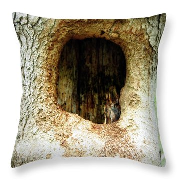 Throw Pillow featuring the photograph Helloooo by Deborah Fay