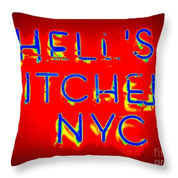 Hell's Kitchen Nyc Throw Pillow by Ed Weidman