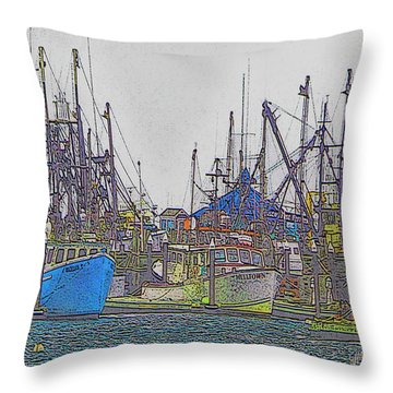 Helltown Throw Pillow