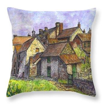 Helmsley Village -  In Yorkshire England  Throw Pillow by Carol Wisniewski