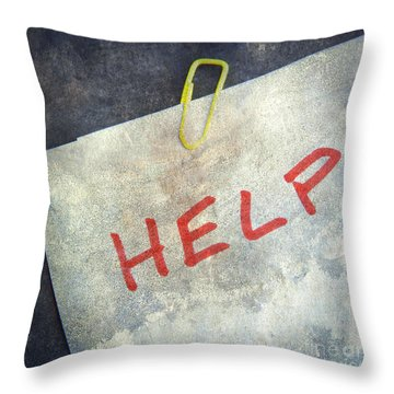 Help Throw Pillow by Bernard Jaubert