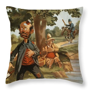 Help I Am Poisend It Is Tea Throw Pillow by Aged Pixel
