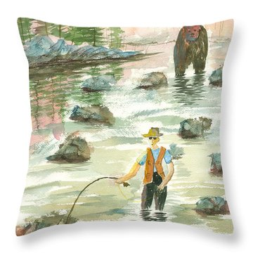 Help Is On The Way Throw Pillow