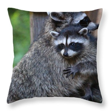 Help Me Mommy Throw Pillow by Kym Backland