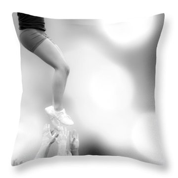 Helping Hands Throw Pillow