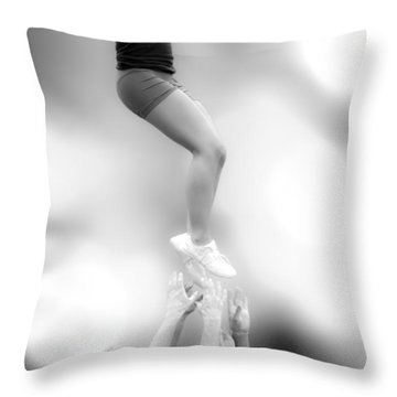 Helping Hands Throw Pillow by Bob Orsillo