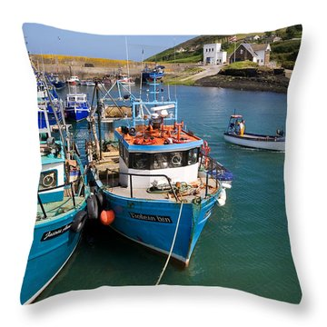 Helvick Harbour, Ring Gaeltacht Region Throw Pillow