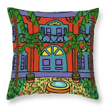 Hemingway House - Key West Throw Pillow