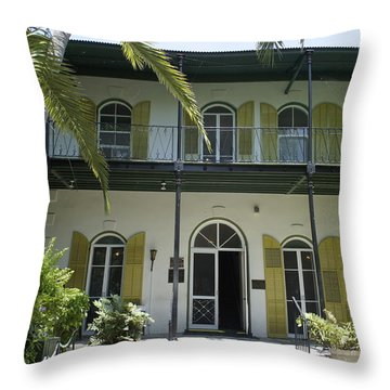 Hemingway's Hideaway Throw Pillow by Laurie Perry