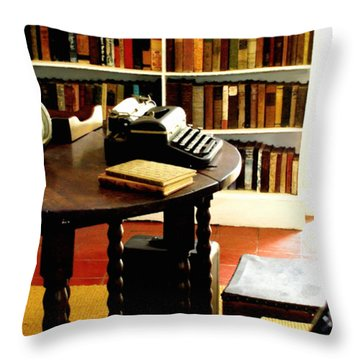 Hemingway's Studio Ernest Hemingway Key West Throw Pillow