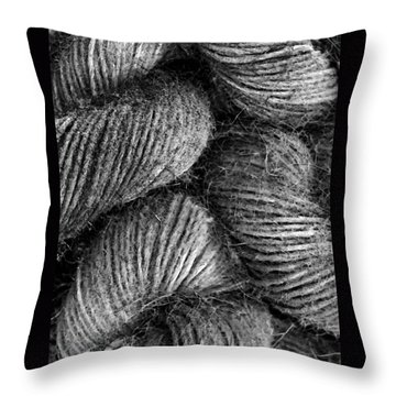 Hemp Curls Throw Pillow