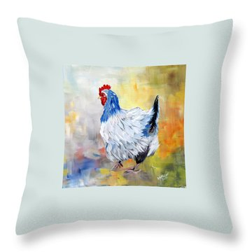 Hen Throw Pillow by Dorothy Maier