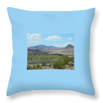 Throw Pillow featuring the photograph Henderson Nevada Desert by Emmy Marie Vickers