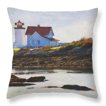 Hendricks Head Lighthouse - Maine Throw Pillow