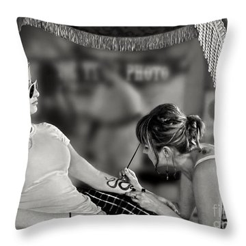 Throw Pillow featuring the photograph Henna At The Fair by Jennie Breeze